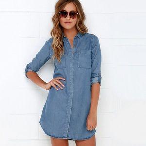 NWT Lulu's Shirt & Sweet Chambray Tencel Dress
